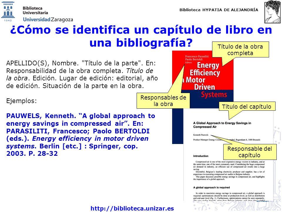 ¿Cómo se identifica un capítulo de libro en una bibliografía