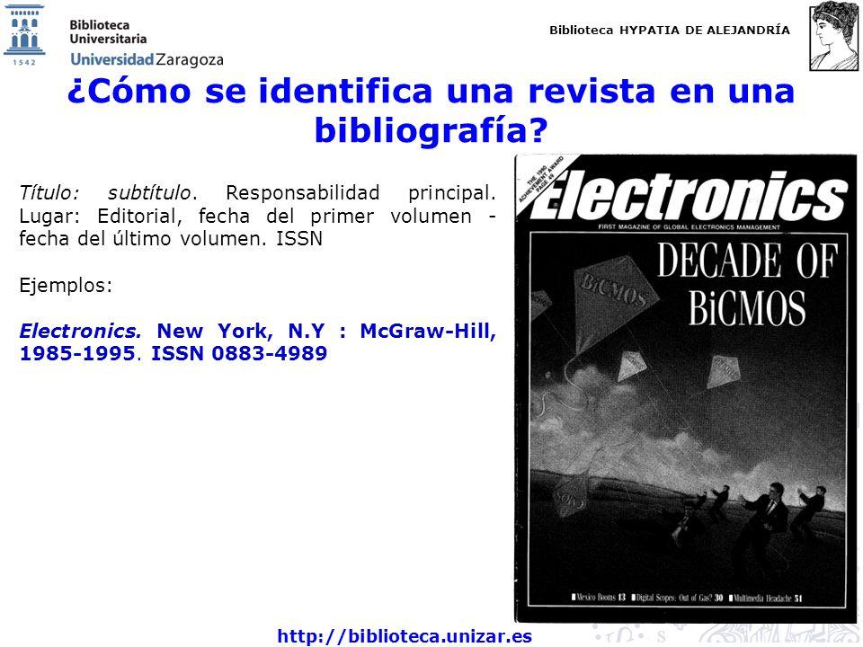 ¿Cómo se identifica una revista en una bibliografía