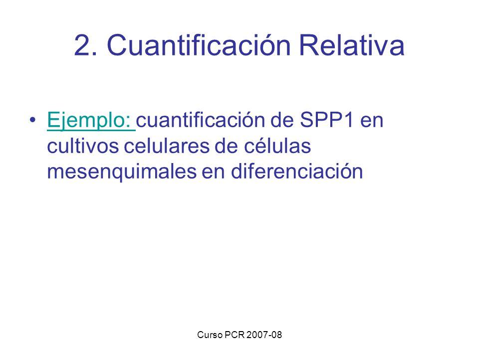 2. Cuantificación Relativa