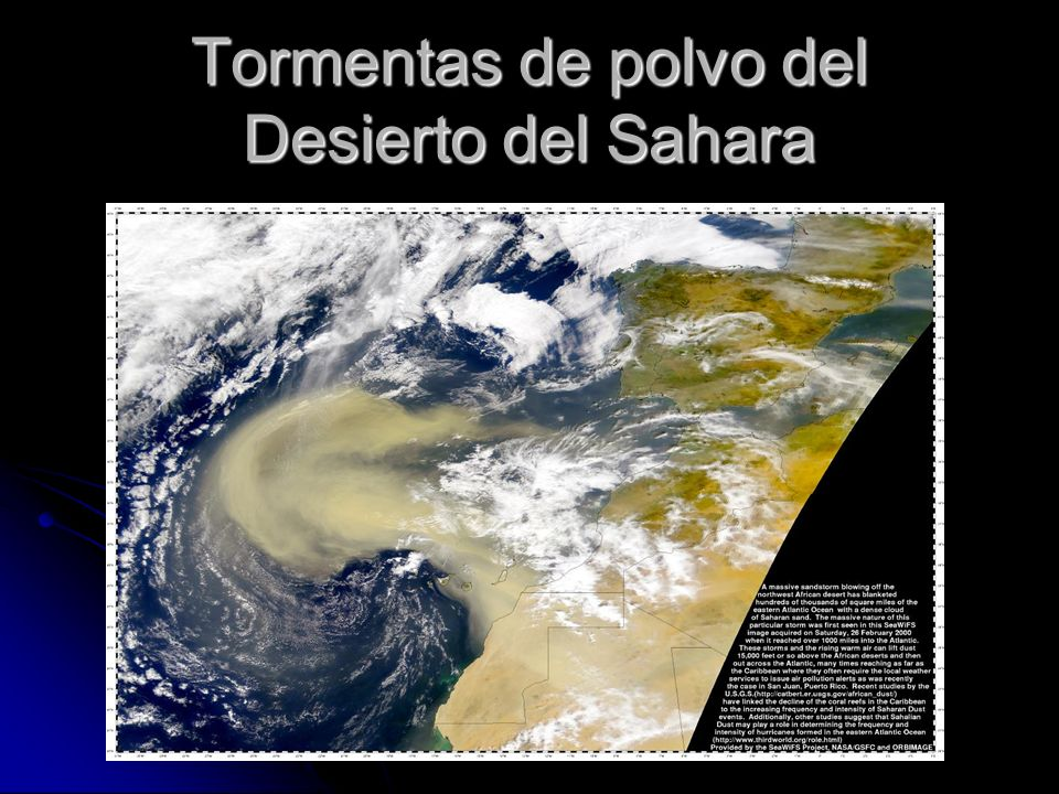 Tormentas de polvo del Desierto del Sahara