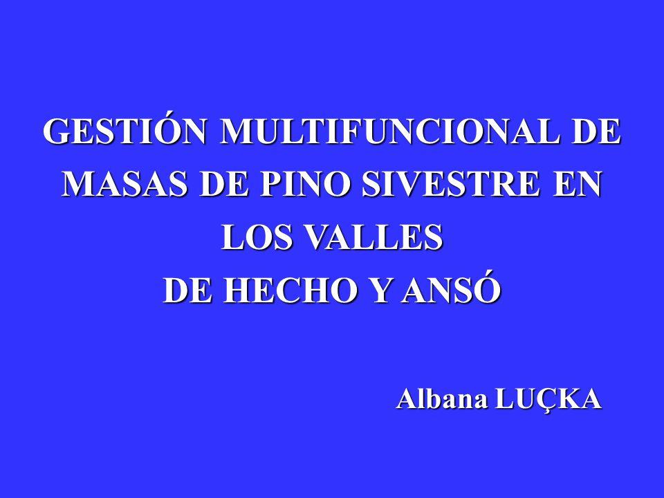 GESTIÓN MULTIFUNCIONAL DE MASAS DE PINO SIVESTRE EN LOS VALLES DE HECHO Y ANSÓ
