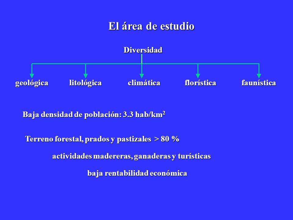 El área de estudio Diversidad geológica litológica climática