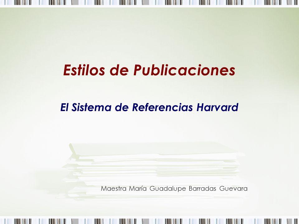 Estilos de Publicaciones