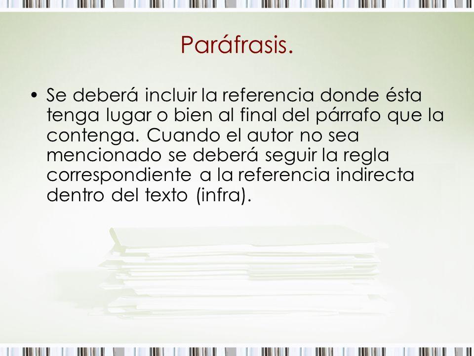 Paráfrasis.