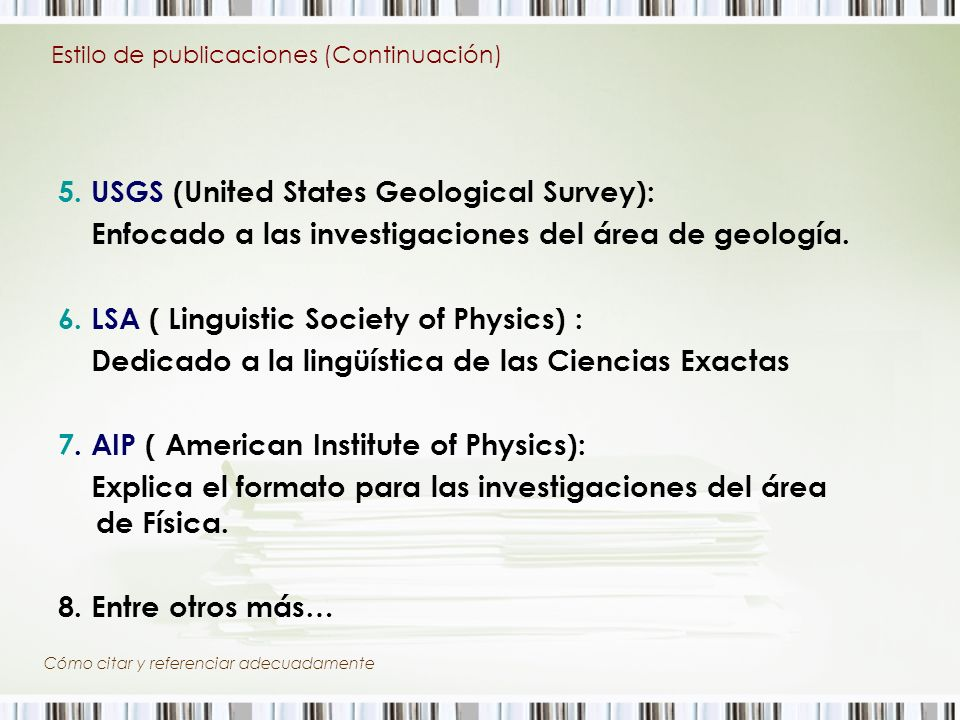 5. USGS (United States Geological Survey):