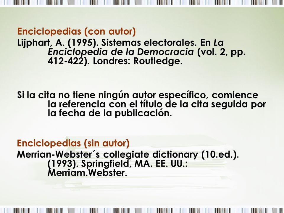 Enciclopedias (con autor)