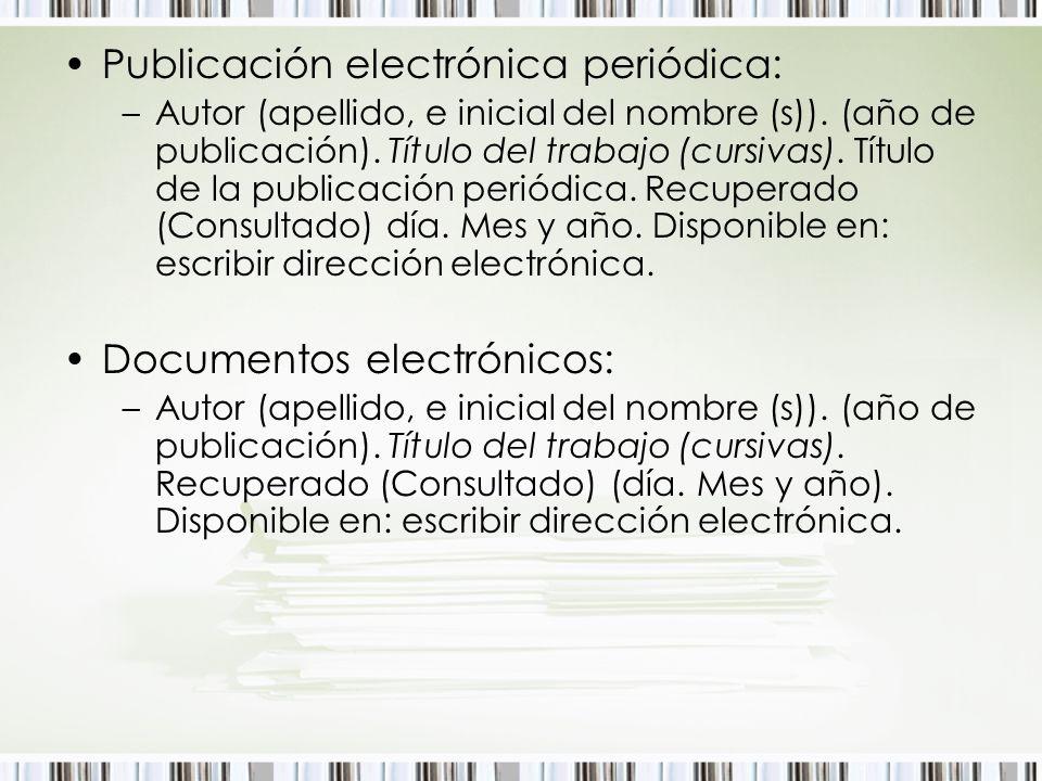Publicación electrónica periódica: