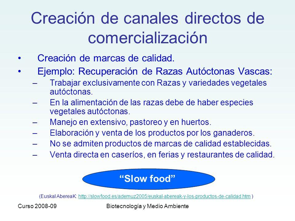 Creación de canales directos de comercialización