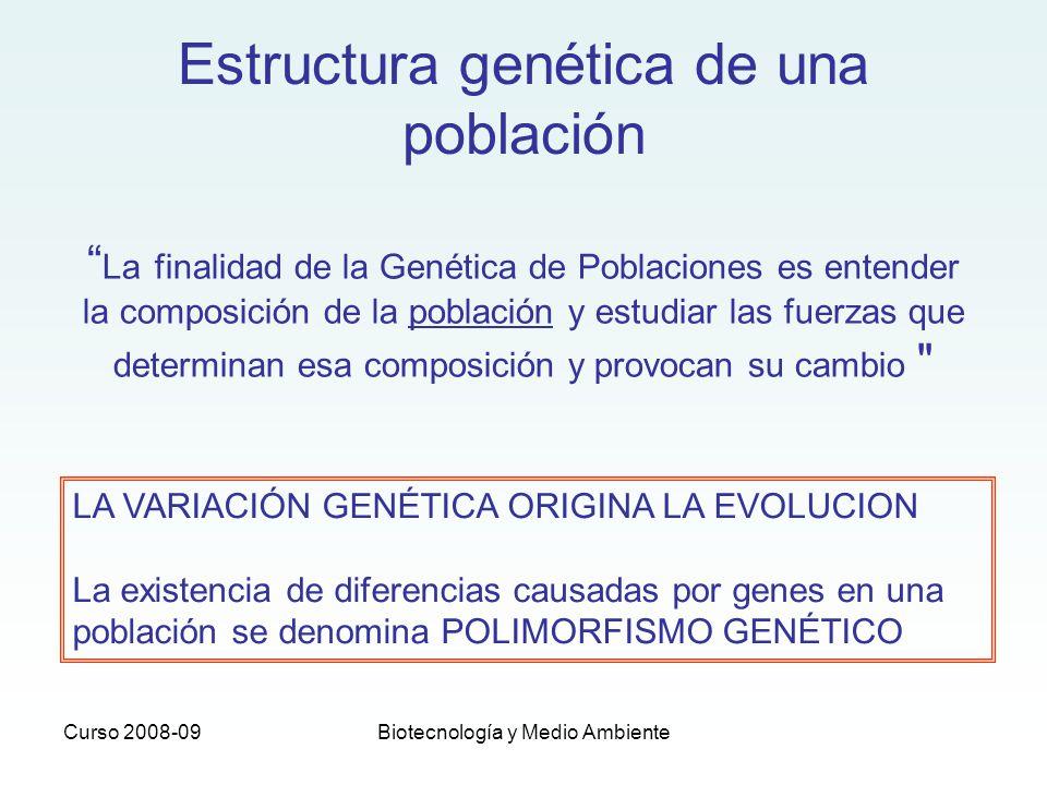 Estructura genética de una población