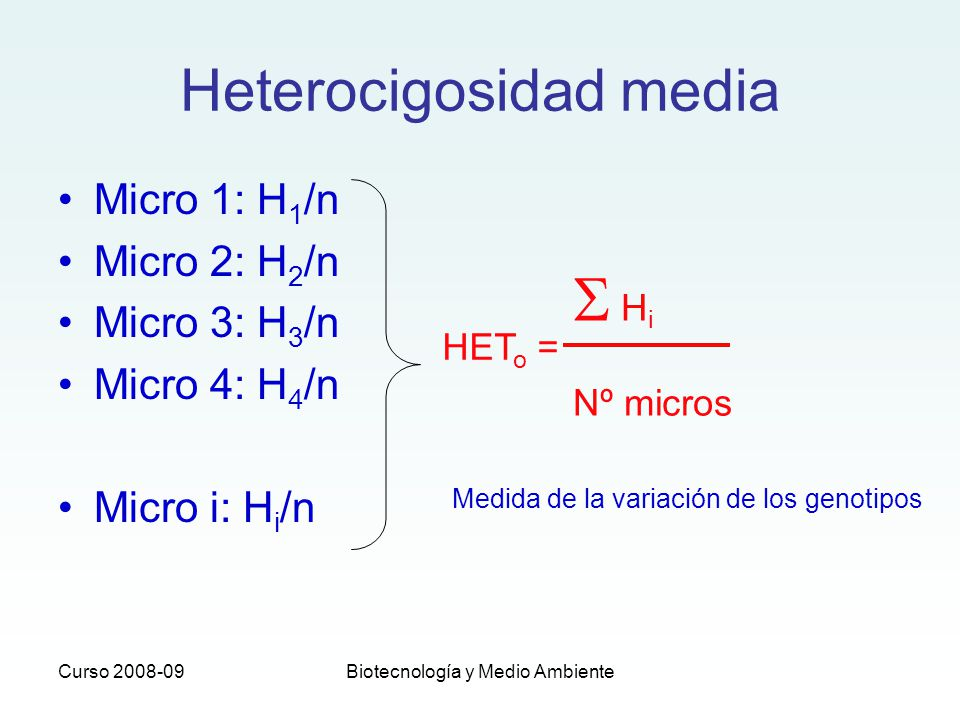 Heterocigosidad media
