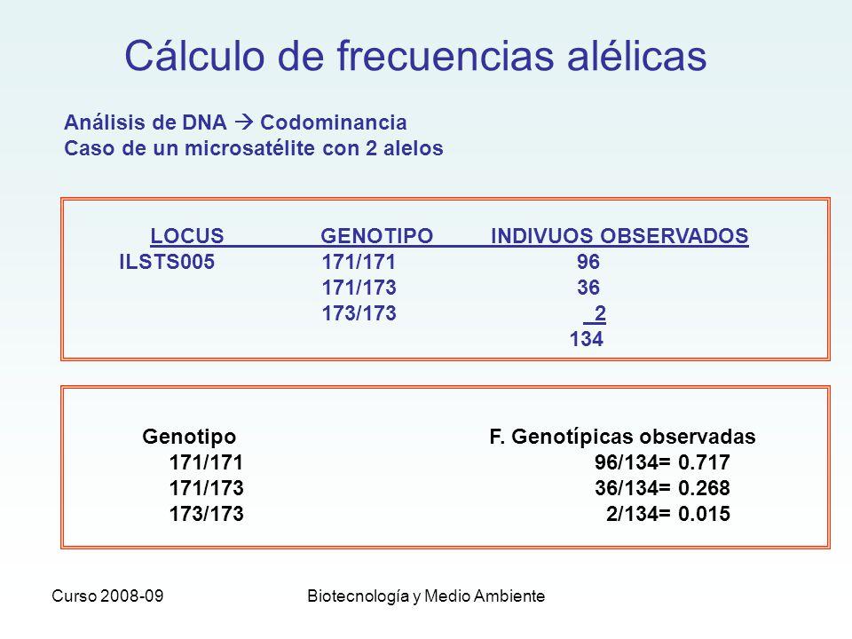 Genotipo F. Genotípicas observadas