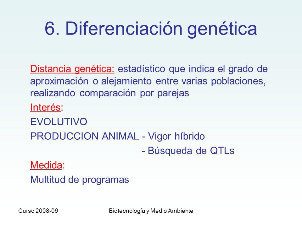 6. Diferenciación genética
