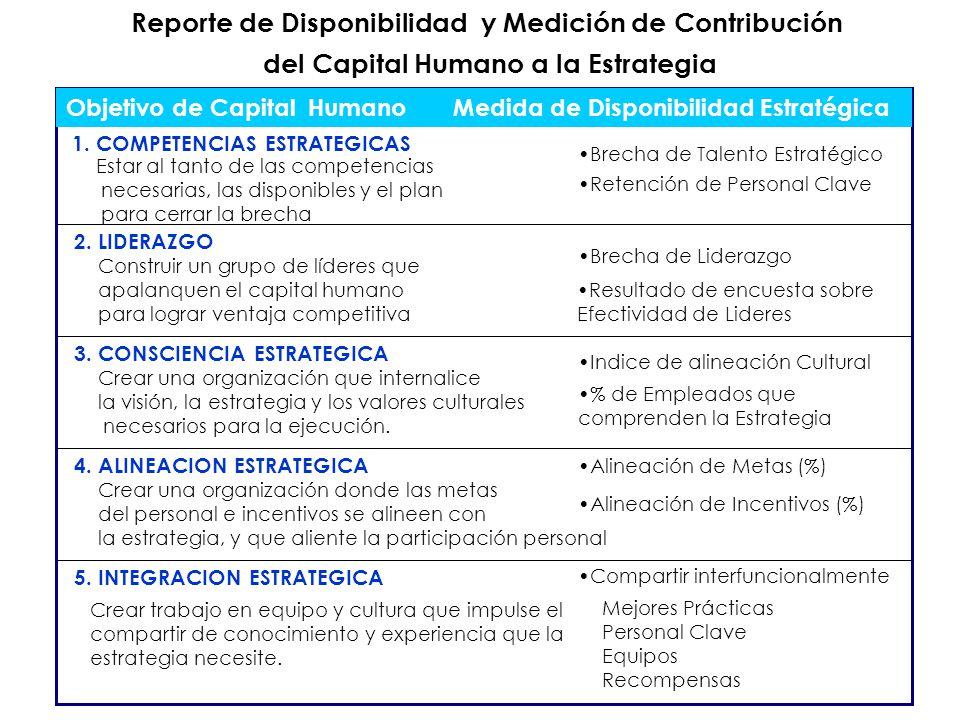 Reporte de Disponibilidad y Medición de Contribución