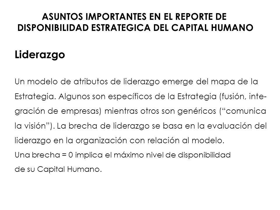Liderazgo ASUNTOS IMPORTANTES EN EL REPORTE DE