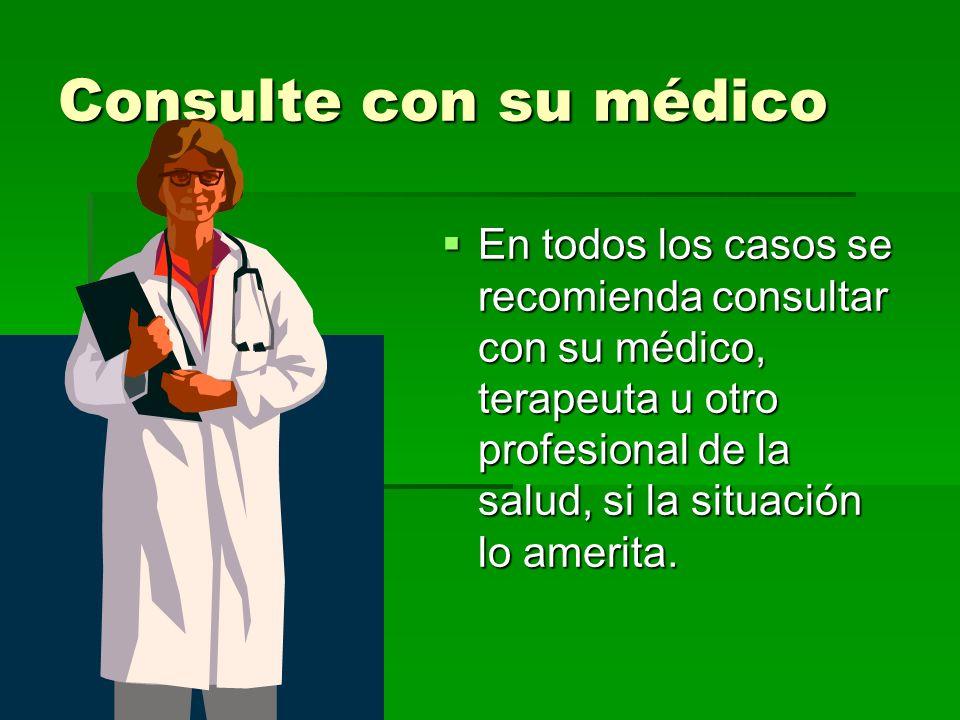 Consulte con su médico