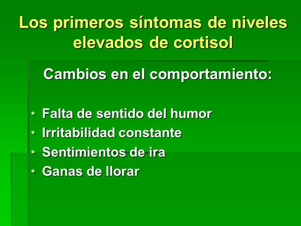 Los primeros síntomas de niveles elevados de cortisol