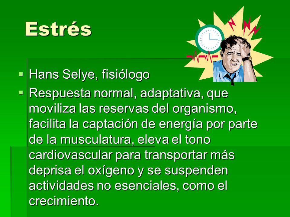 Estrés Hans Selye, fisiólogo
