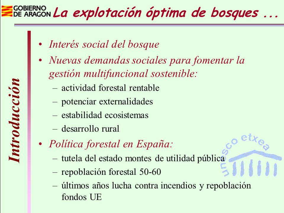 Introducción Interés social del bosque