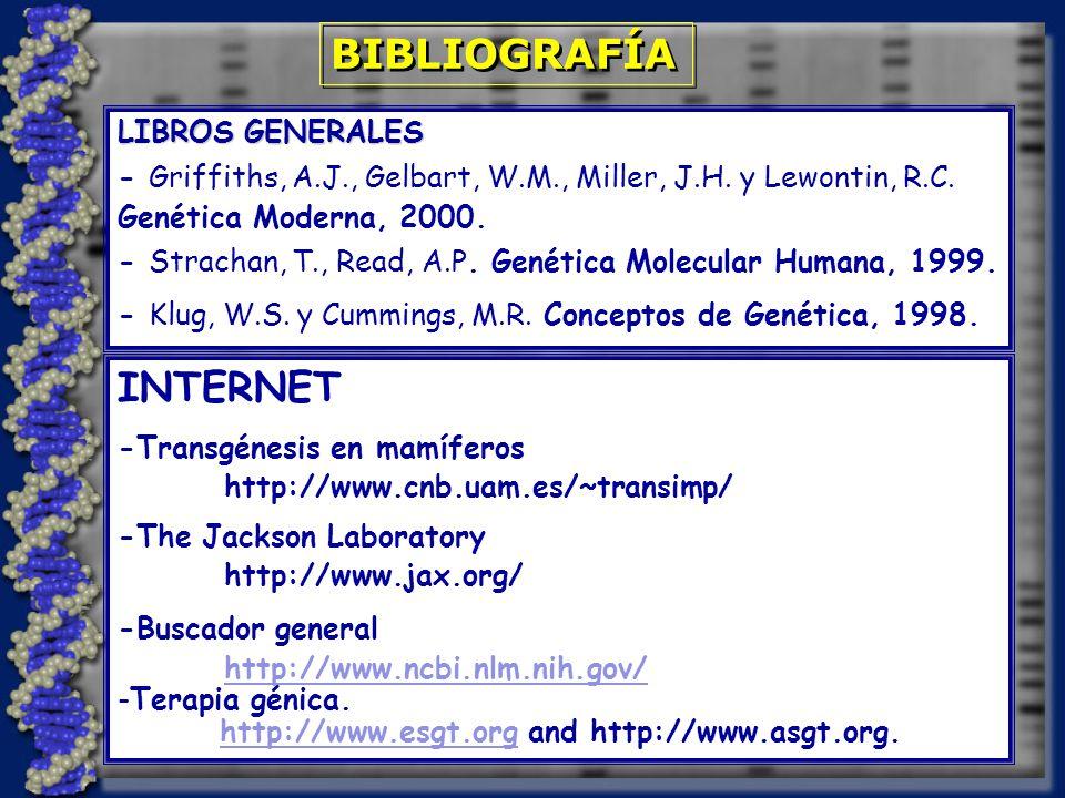 BIBLIOGRAFÍA INTERNET LIBROS GENERALES