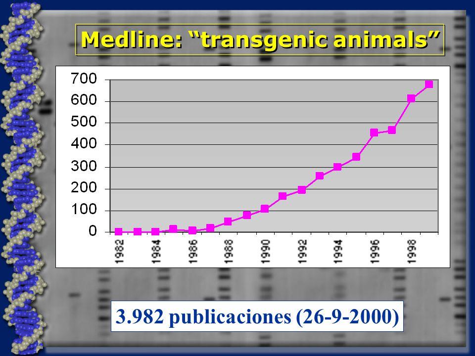 Medline: transgenic animals