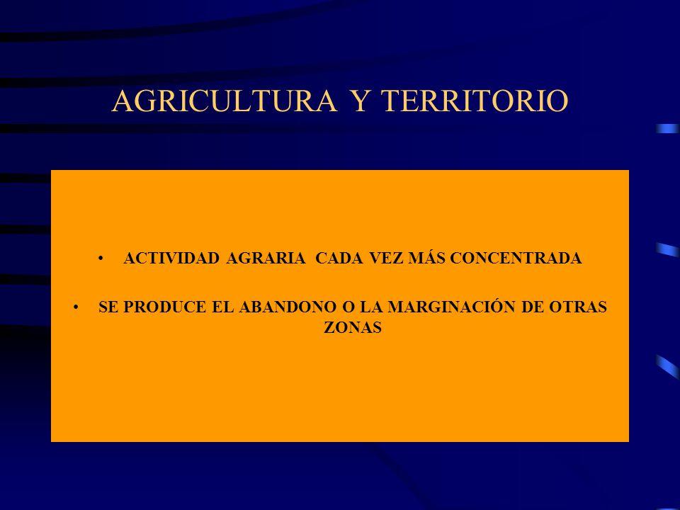 AGRICULTURA Y TERRITORIO