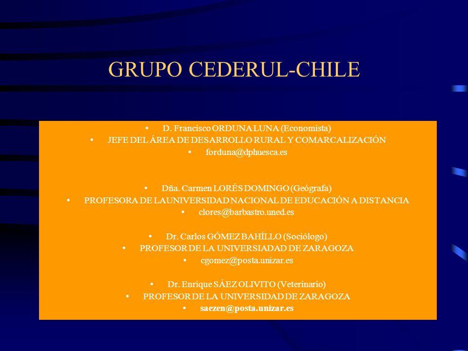 GRUPO CEDERUL-CHILE D. Francisco ORDUNA LUNA (Economista)