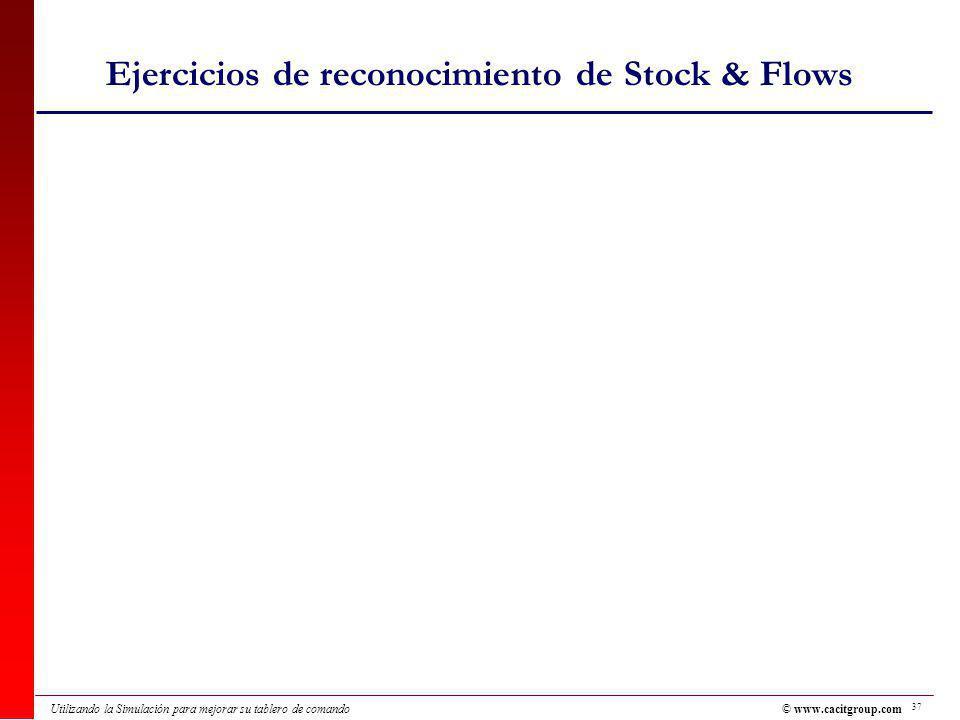 Ejercicios de reconocimiento de Stock & Flows
