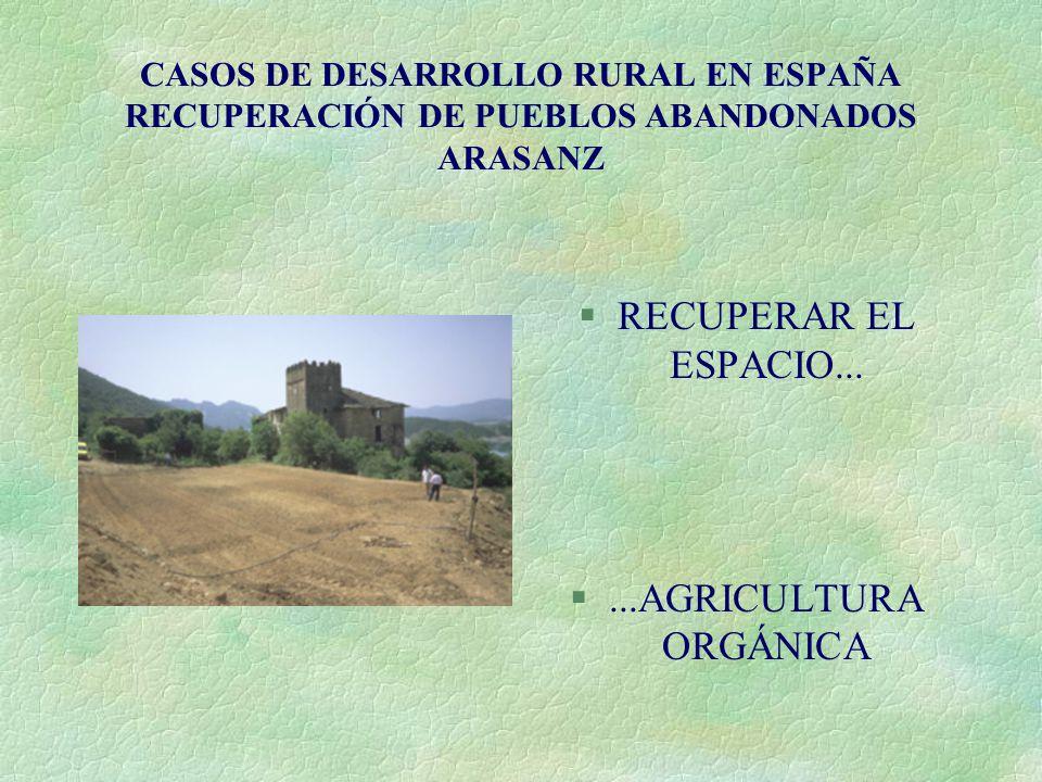 RECUPERAR EL ESPACIO... ...AGRICULTURA ORGÁNICA