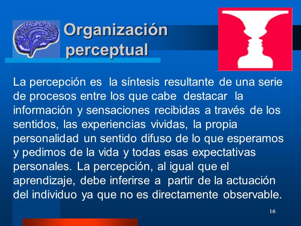 Organización perceptual