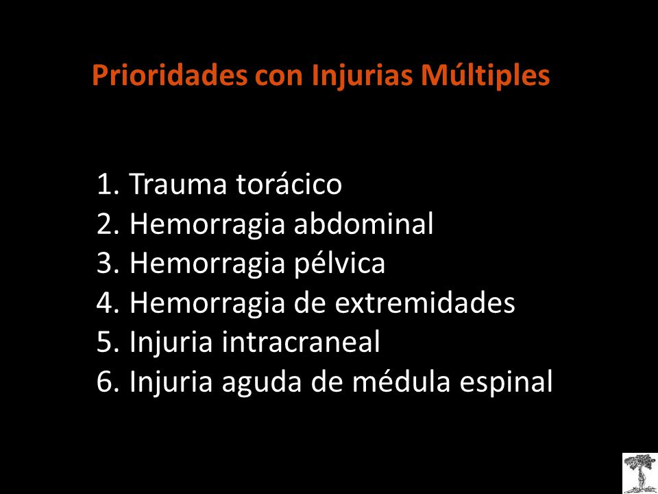Prioridades con Injurias Múltiples