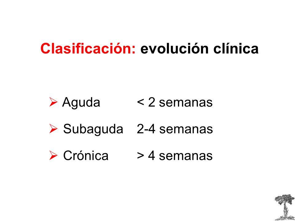 Clasificación: evolución clínica