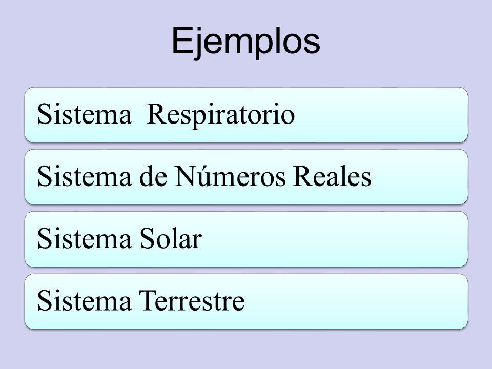 Ejemplos Sistema Respiratorio Sistema de Números Reales Sistema Solar