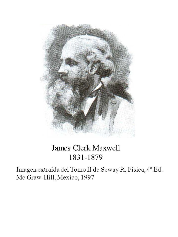 James Clerk Maxwell 1831-1879. Imagen extraída del Tomo II de Seway R, Física, 4ª Ed.