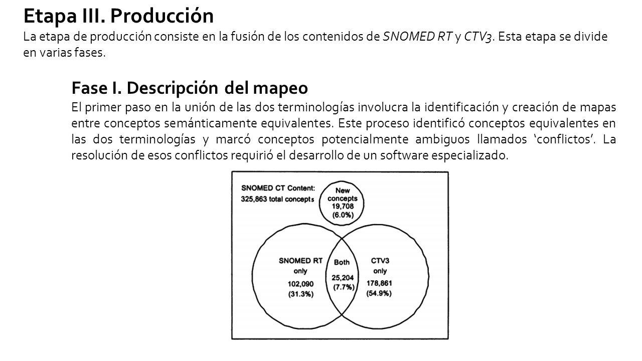 Etapa III. Producción Fase I. Descripción del mapeo