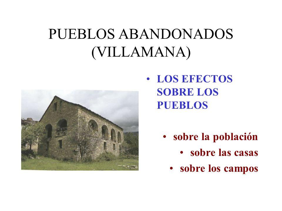 PUEBLOS ABANDONADOS (VILLAMANA)