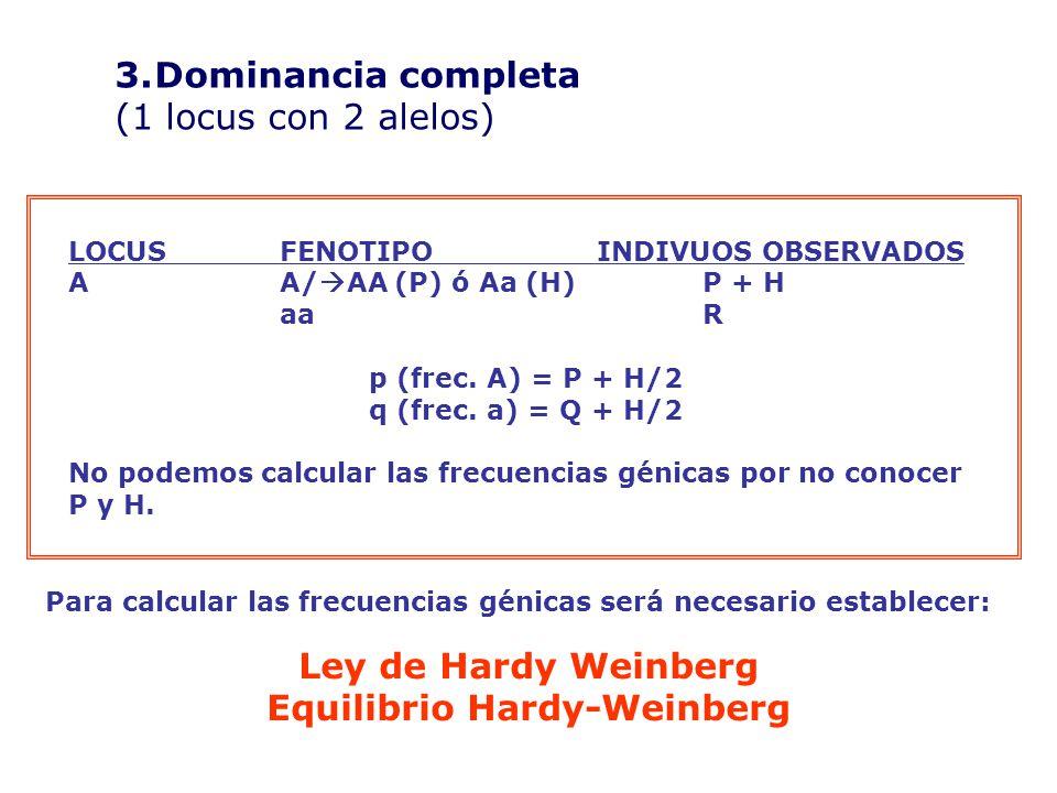 Equilibrio Hardy-Weinberg