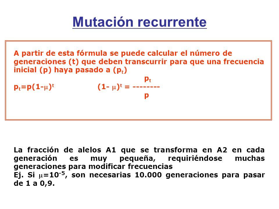 Mutación recurrente