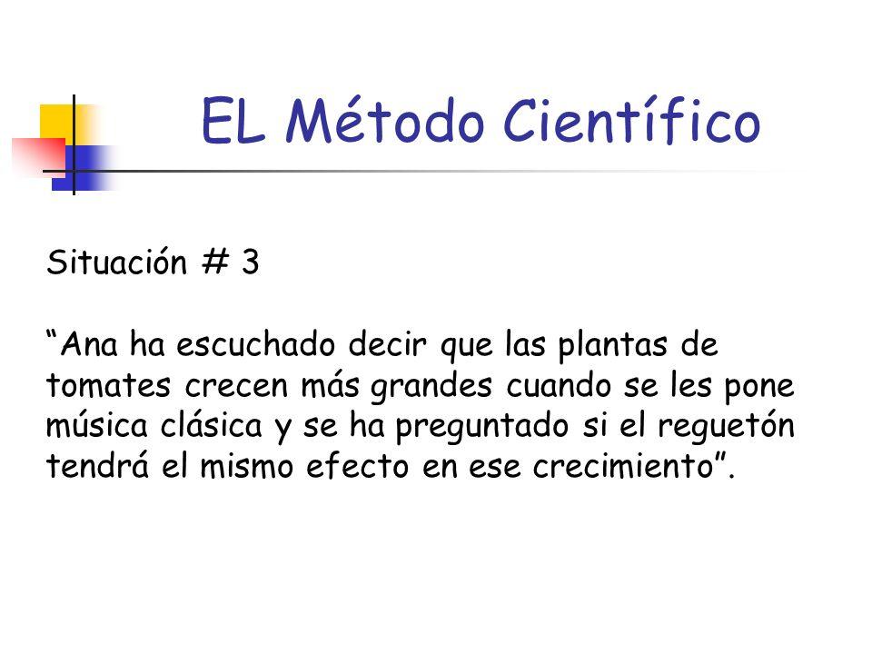 EL Método Científico Situación # 3