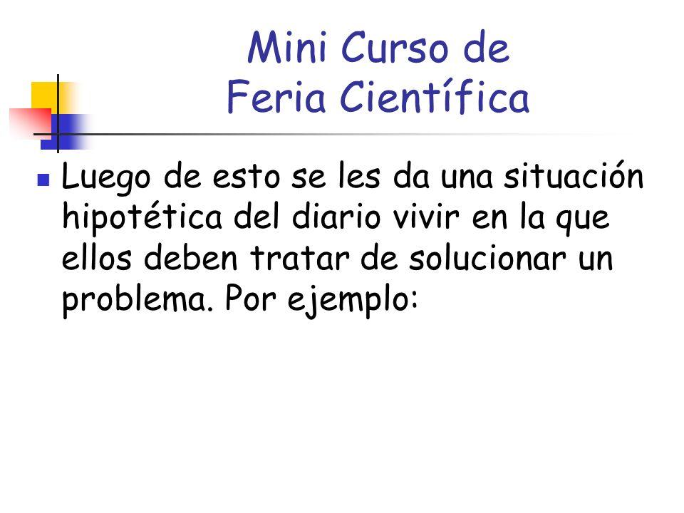 Mini Curso de Feria Científica