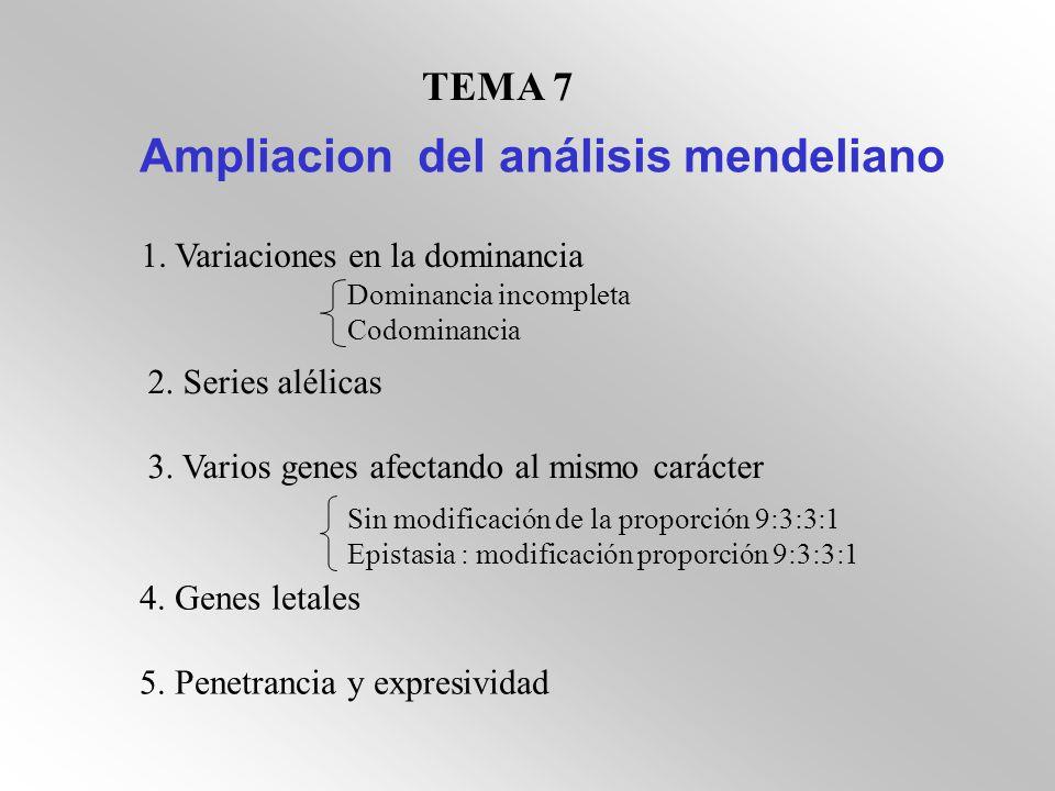 Ampliacion del análisis mendeliano