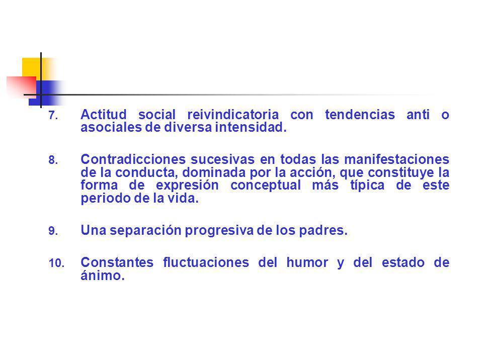 Actitud social reivindicatoria con tendencias anti o asociales de diversa intensidad.