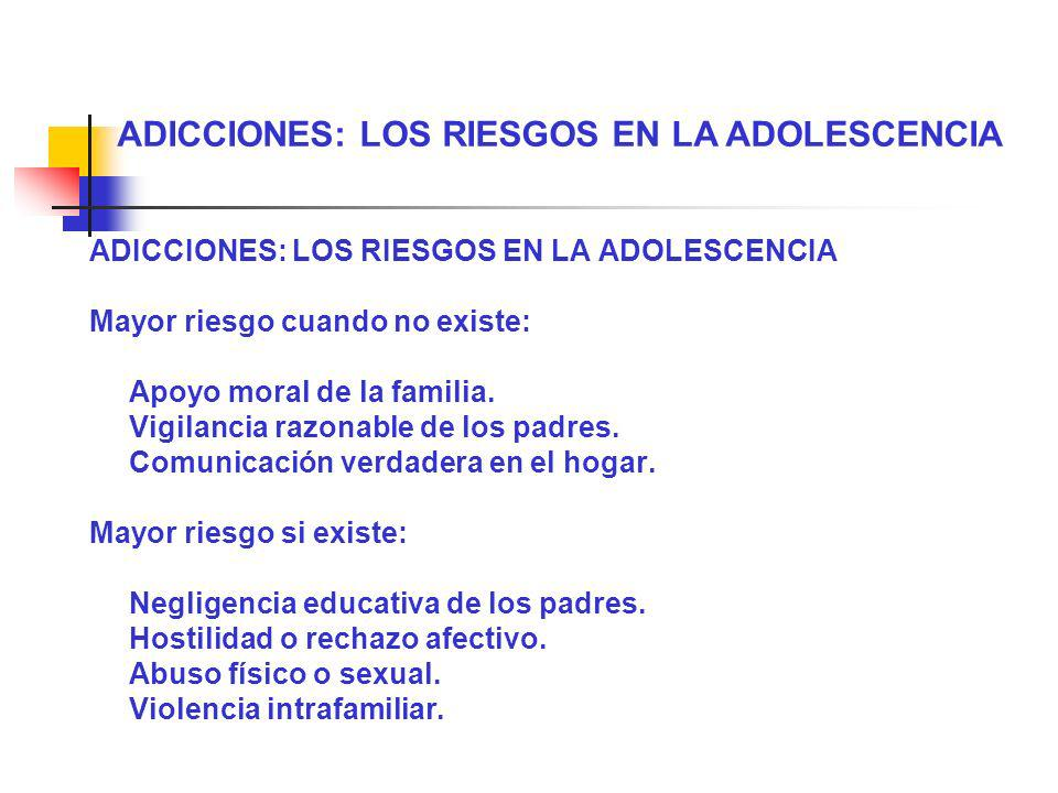ADICCIONES: LOS RIESGOS EN LA ADOLESCENCIA
