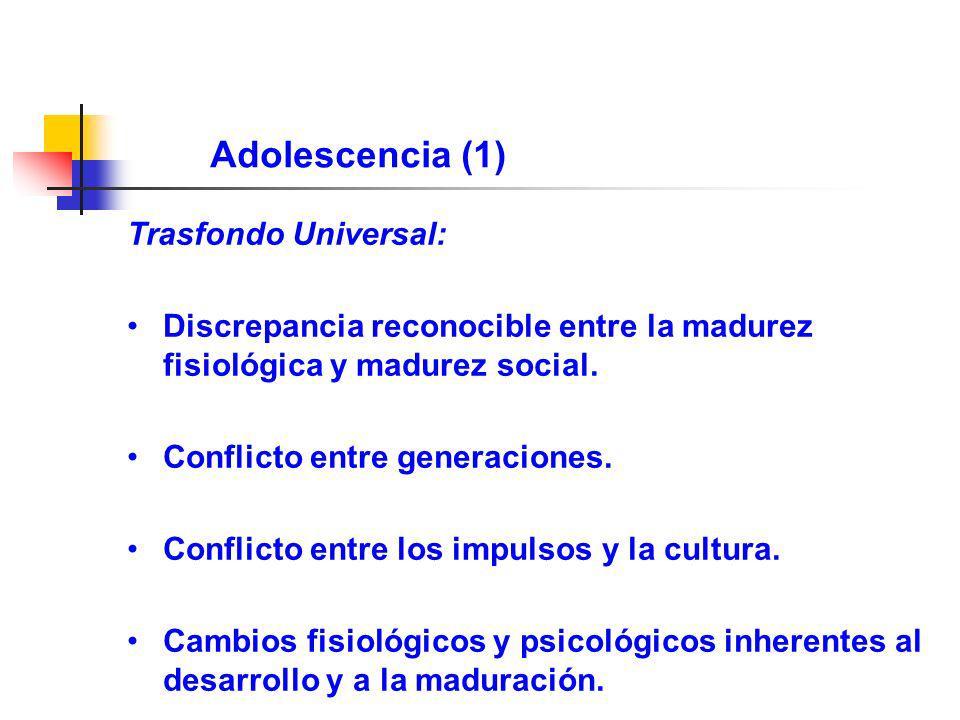 Adolescencia (1) Trasfondo Universal: