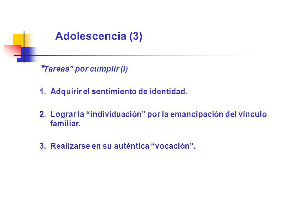 Adolescencia (3) Tareas por cumplir (I)