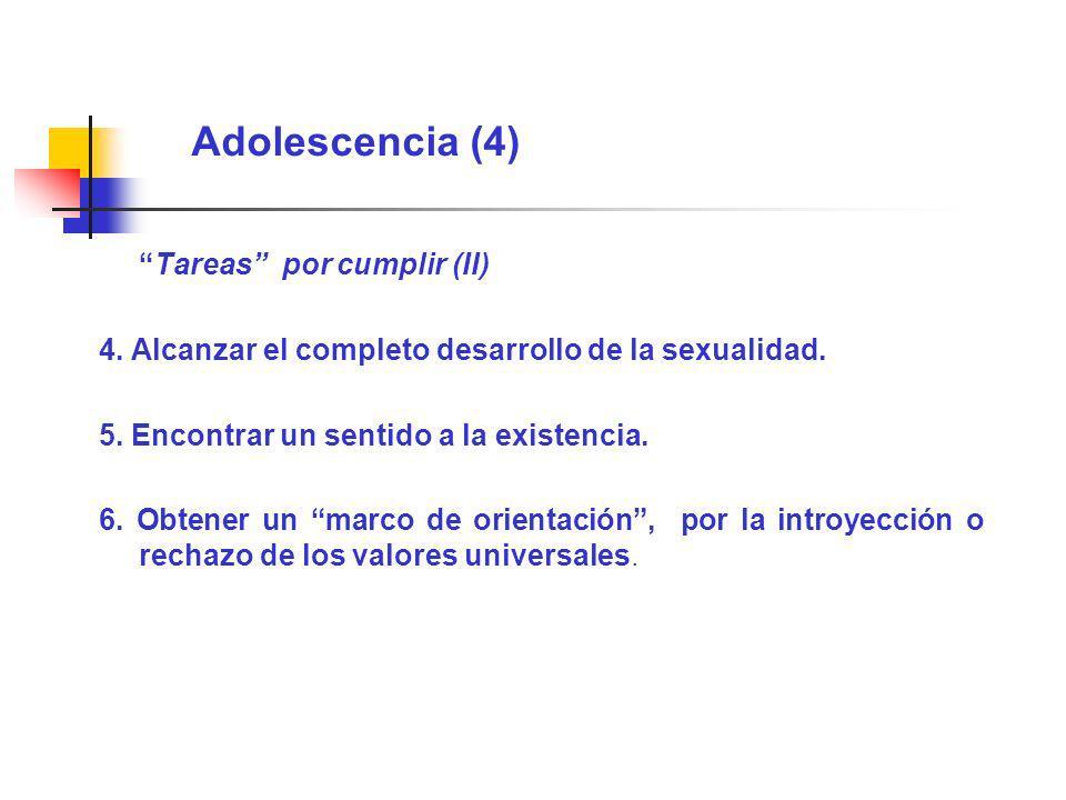 Adolescencia (4) Tareas por cumplir (II)