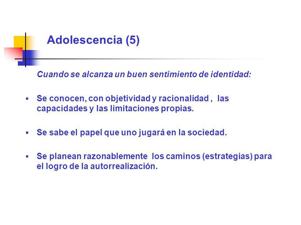 Adolescencia (5) Cuando se alcanza un buen sentimiento de identidad: