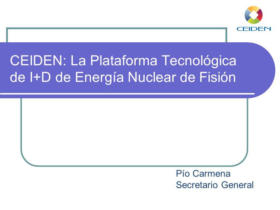 CEIDEN: La Plataforma Tecnológica de I+D de Energía Nuclear de Fisión