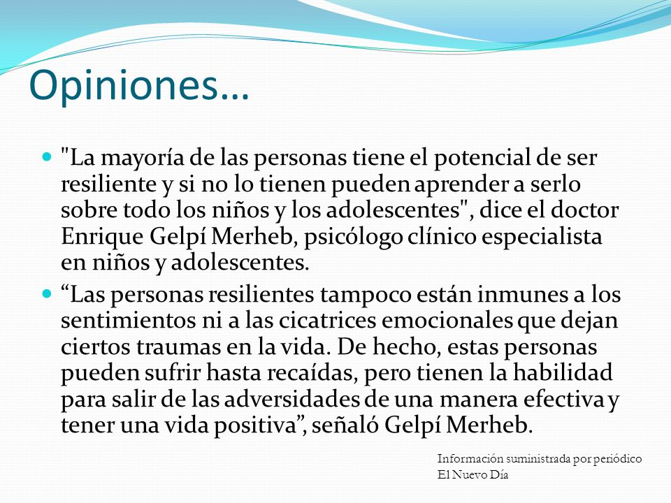 Opiniones…