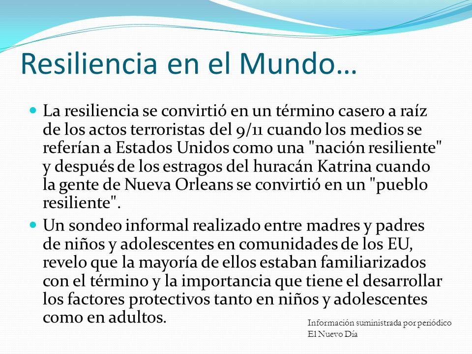 Resiliencia en el Mundo…
