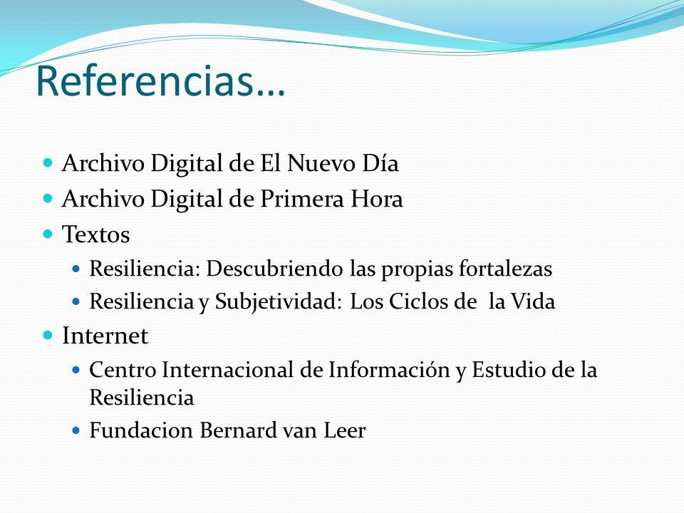Referencias… Archivo Digital de El Nuevo Día